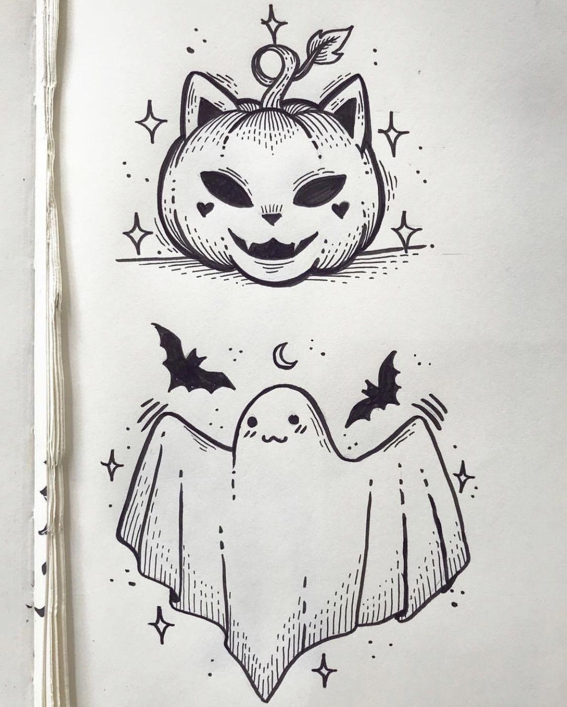 Credit To Sailormisaki Halloween Art Halloween Drawings