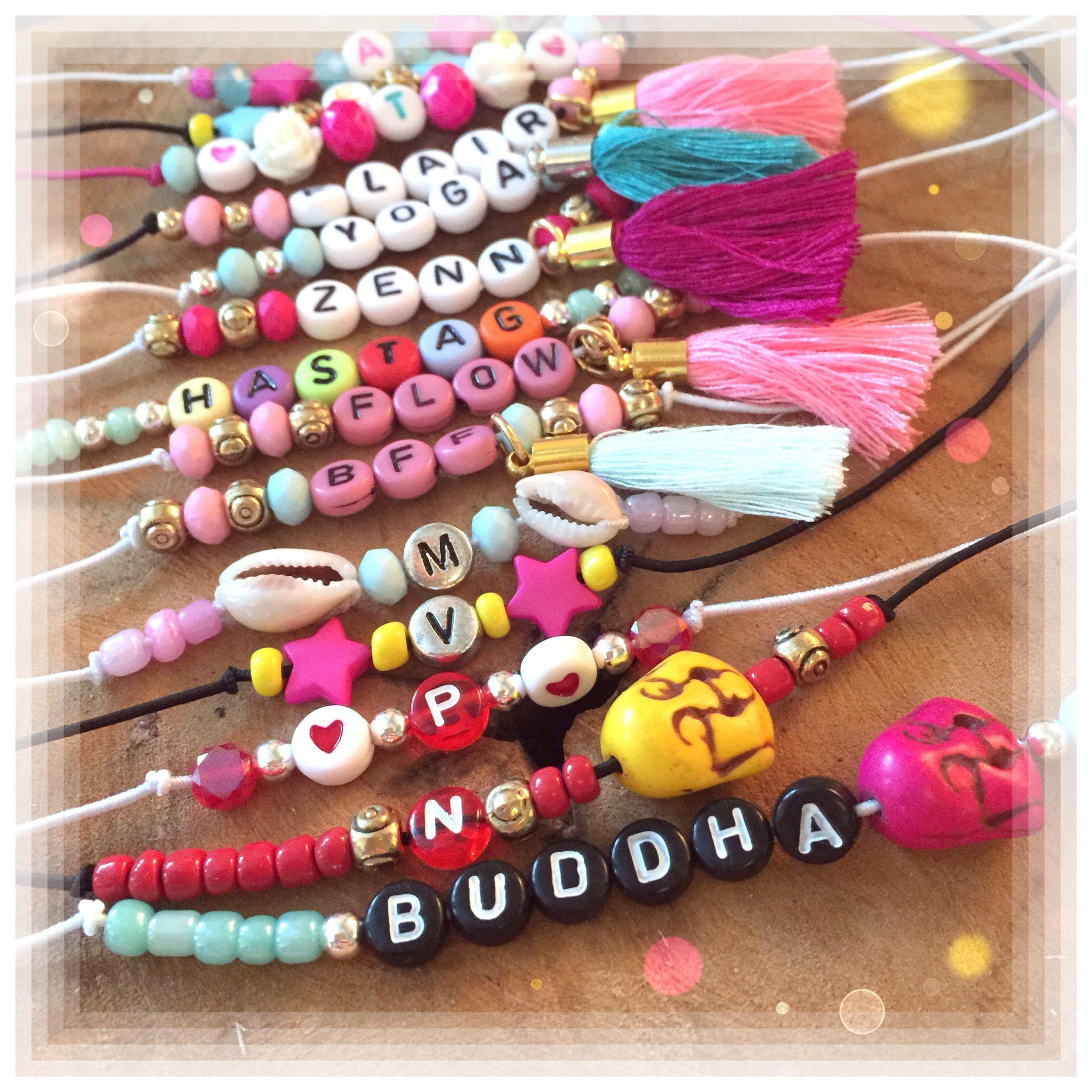 Letter Bead Bracelets Handmade by SaZjewelry | Letter bead ...