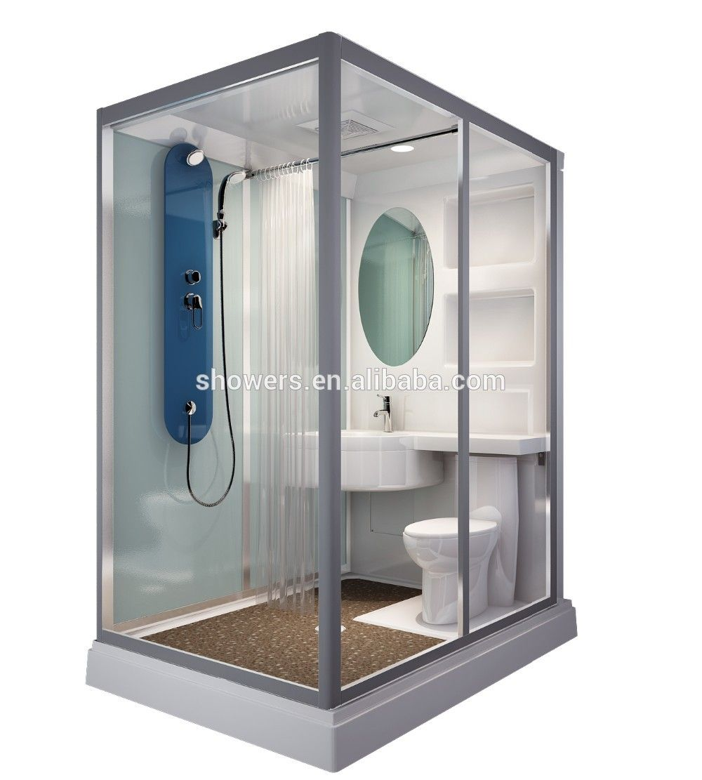 Sunzoom New Arrival Prefab Bathroom Pods Prefab Toilet Bathroom Modular Shower Cabin Tiny House Bathroom Shower Room Portable Shower