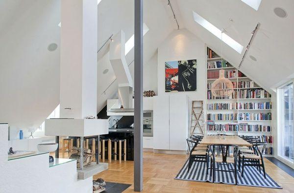 Dachwohnung-moderne skandinavische Inneneinrichtung | For the Home ...