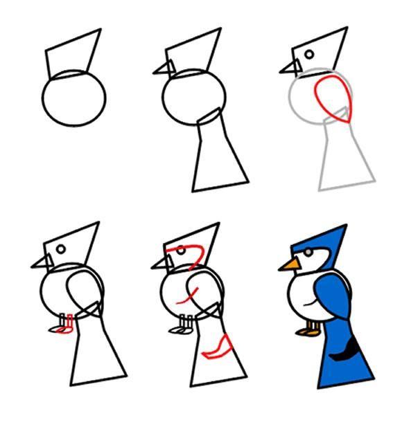 Google Cartoon Bird Drawing Bird Drawings Drawing Lessons