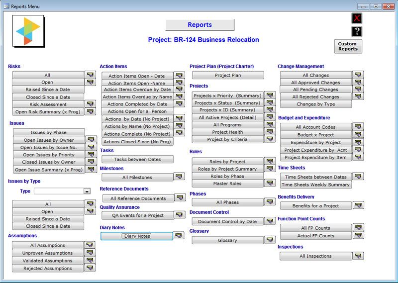 microsoft access project management