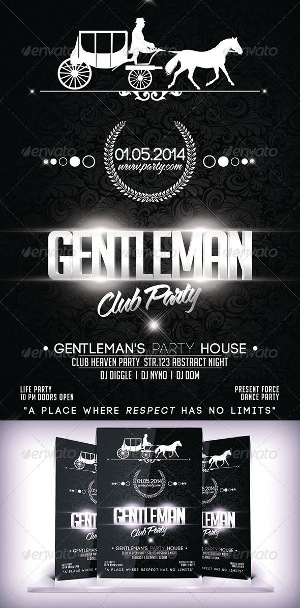 Gentleman Business Club Flyer  Club Flyers Font Logo And Business