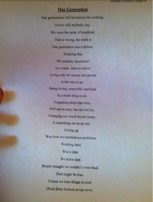 Tips tricks on poem random and wisdom a 14 year old boy writes one of the most relevant poems of our generation urtaz Choice Image