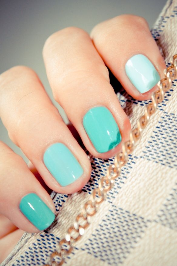 Turquoise shades | Retro Kitchens | Pinterest | Ombre, Nail color ...