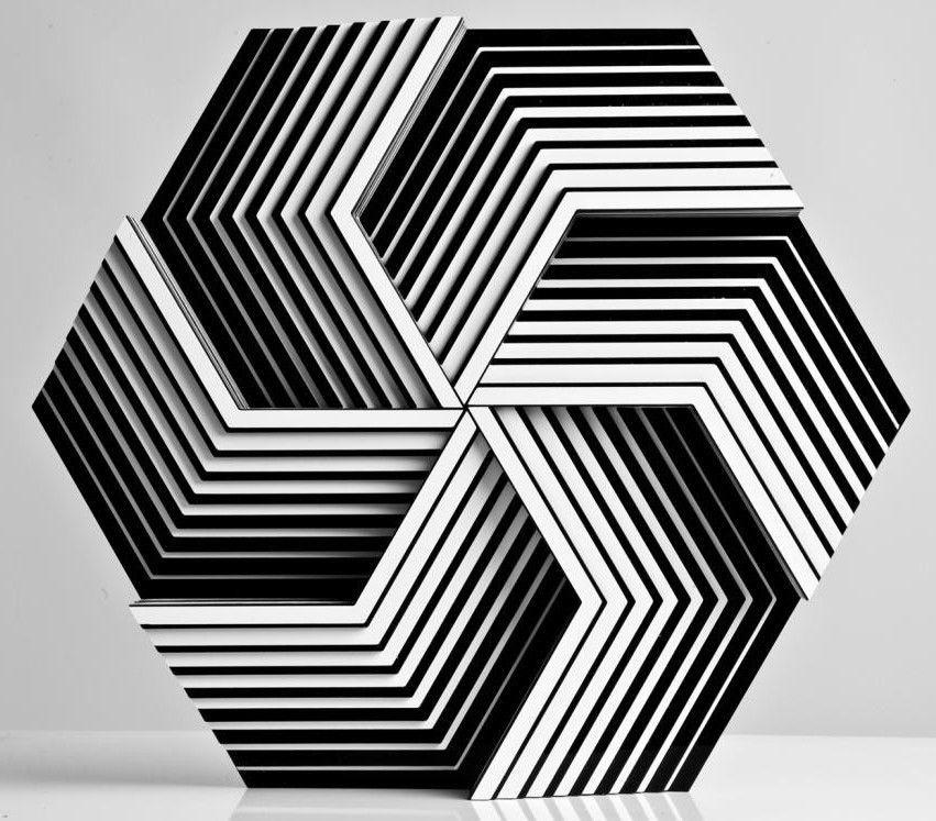 SCULPTURE LUISA RUSSO Victor Vasarely Julio Le Parc Escher Daniel Buren Albers