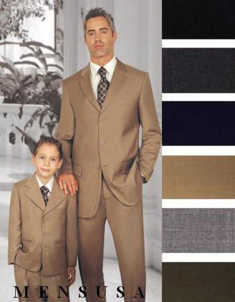 Click to buy ucuc custom made champagne father and son suit