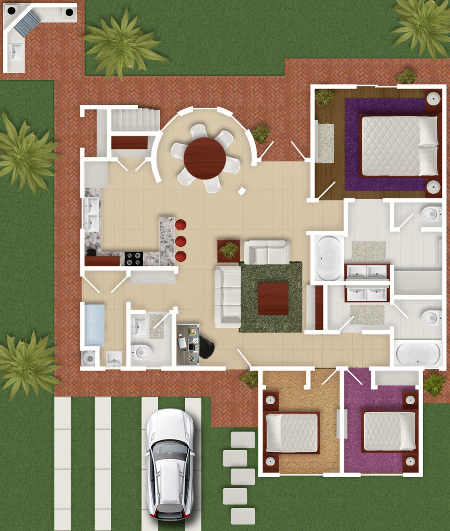 Planos de nuestras casas en venta en rosarito cielo for Planos de cabanas campestres