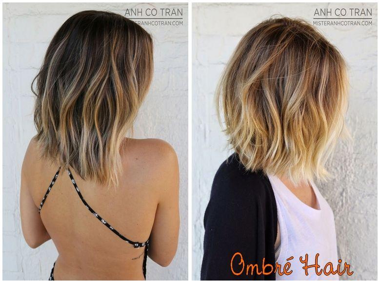 Ombré em cabelos curtos um charme. Tresse, Cheveux Blond, Les Coupes,