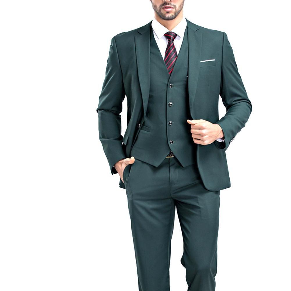Piece slim fit wedding suit green mens wedding suit grooming