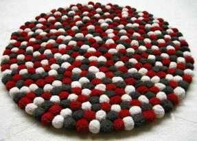 3 pies 2 5 pulgadas redondas alfombra de pompones Hecho con