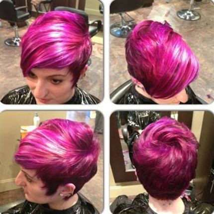 HOW-TO: 4 Color Formulas/ Blended Ombre to Raspberry delight!  from the BTC Community