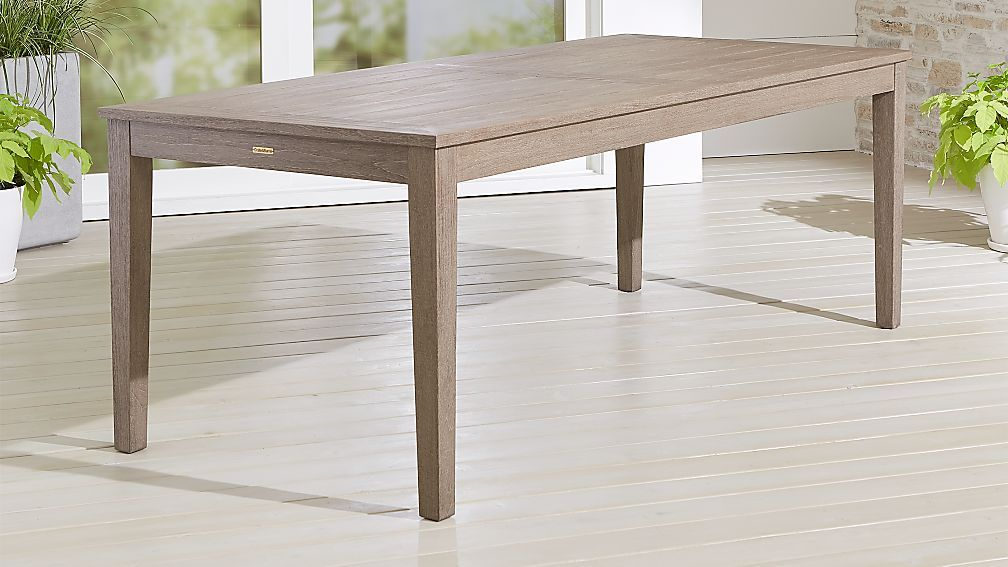 Regatta Grey Wash Rectangular Dining Table Reviews Crate And Barrel Outdoor Dining Chairs Dining Table Extension Dining Table