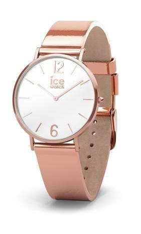 Ice-Watch City Sparkling Rose Gold Metallic Leather Strap XS Women s Watch  015085   Amazing Watches   Pinterest   Ice watch, Metallic leather and  Metallic 7359b0ffeff9