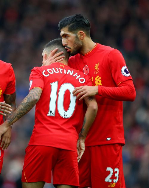 Image result for Philippe Coutinho with Emre Can