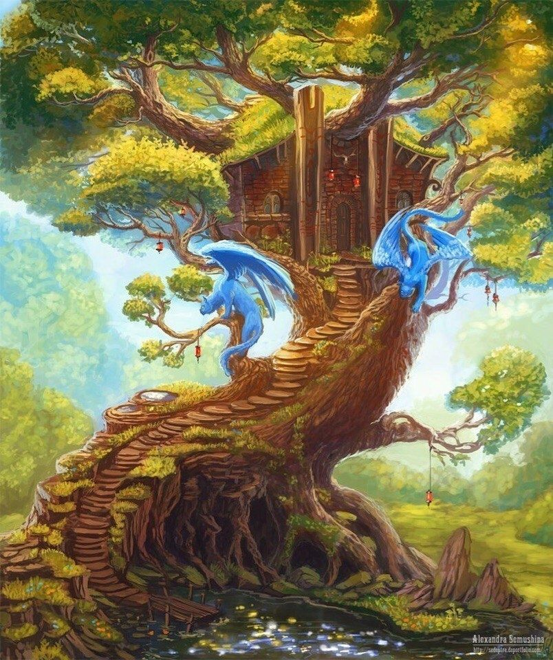 сказочное дерево рисунки