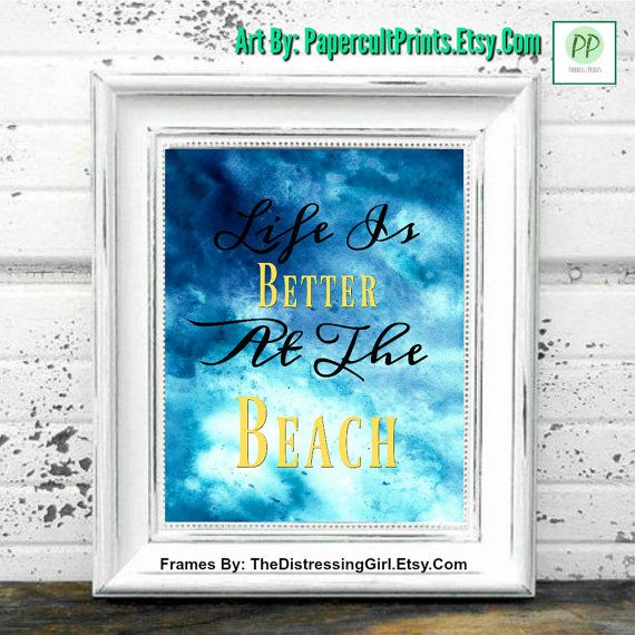 BEACH WALL ART Printable Quote Printable Art by PapercultPrints