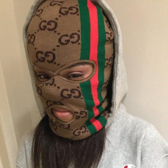 4d23f68aaf2 Gucci GG Monogram Ski Mask Hat Beanie in 2019