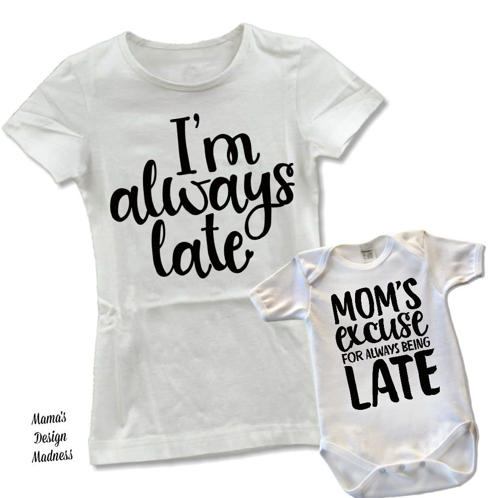 Black @ Funny Mom/'s Excuse for Being Late Toddler T-Shirt