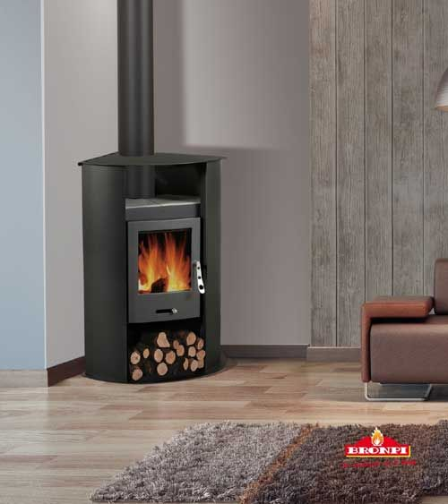 9KW Palma Woodburning Corner Stove | Buy Modern Wood Burning Stoves Online  | UK Stoves - 9KW Palma Woodburning Corner Stove Buy Modern Wood Burning