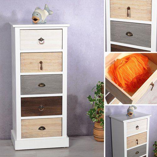 Mueble de estilo vintage estanter a armario cajonera for Muebles estilo banak