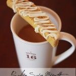 Pumpkin Spice Biscotti {with White Chocolate Icing}