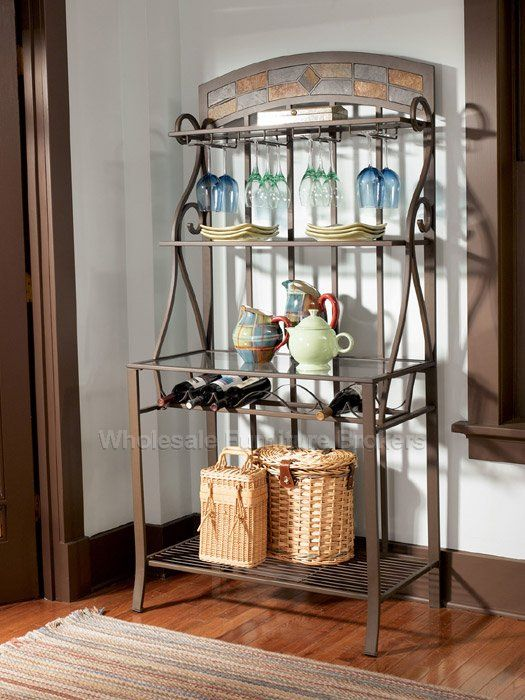 innovative decorative bakers racks furniture | Parsley Bakers Rack by Powell Company