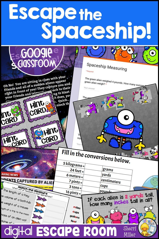 Digital Escape Room Escape The Spaceship Math Breakout Activity Math Technology Lessons Elementary Math [ 1440 x 960 Pixel ]