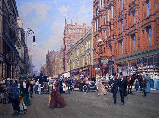 William  Ireland-''Buchanan Street in 1910'' (oil on board)