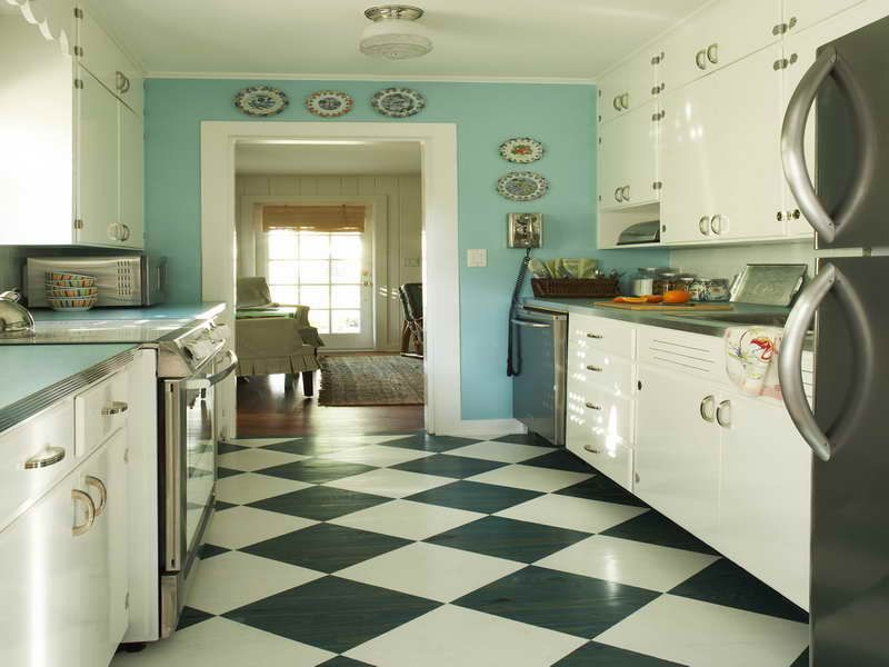black and white kitchen floors - google search | kitchen ideas