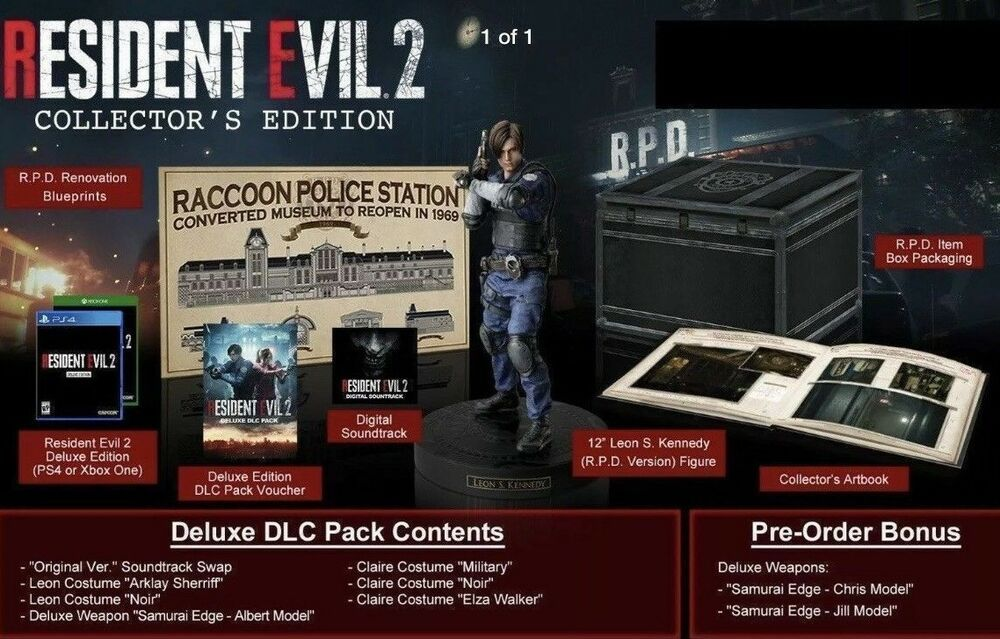 Resident Evil 2 Collector S Edition Ps4 On Hand Ready To Ship Playstation 4 Ps4 Gaming Video Resident Evil Comic Con Evil