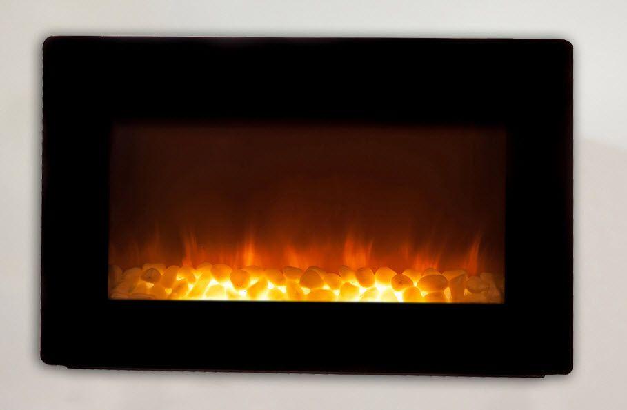 30 5 Modena Black Wall Mounted Electric Fireplace Wall Mount