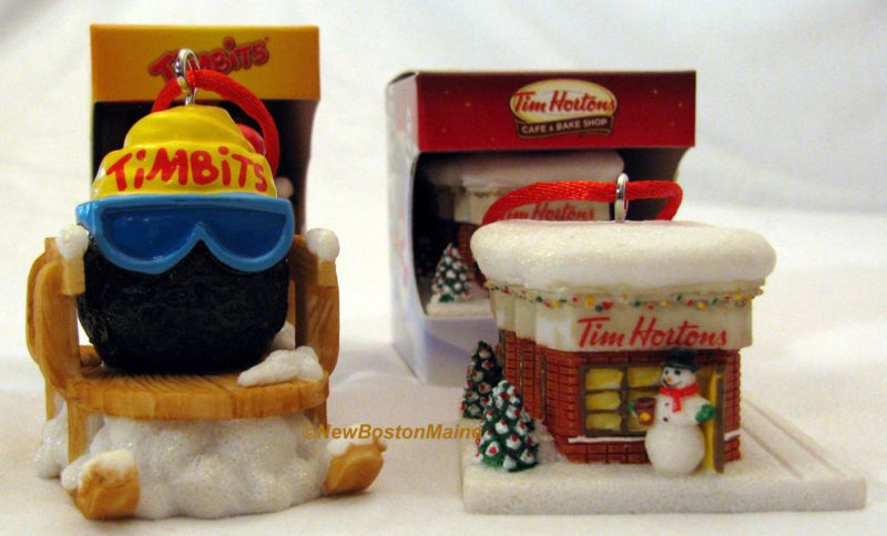 x2 Tim Hortons Coffee Christmas Tree Ornaments TimBits & Horton's Cafe Bake  Shop | eBay - X2 Tim Hortons Coffee Christmas Tree Ornaments TimBits & Horton's