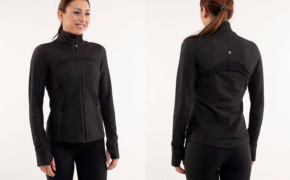 Lululemon Define Black Slub Denim Jacket 6 Rare Lululemon Coatsjackets Jackets Define Black Denim Jacket