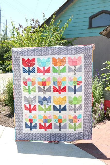 Patchwork Tulips Quilt Pattern From The Scrappy Project Planner By