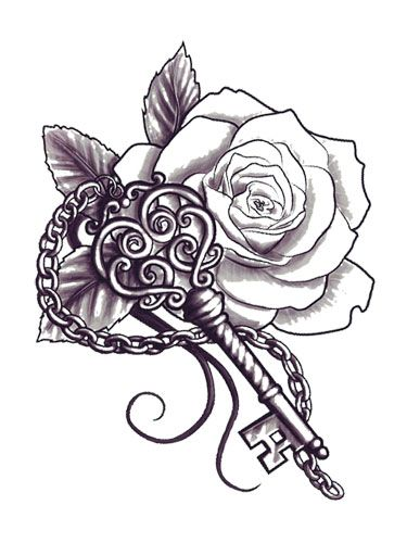 Rose Key Tattoo Marquesan Tattoos Japanese Tattoo Tattoos