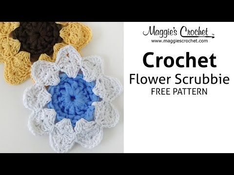 Floral Scrubby Free Crochet Pattern Right Handed Youtube Free