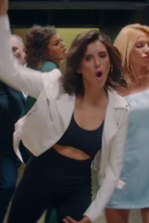 ac7b7816c348f Nina Dobrev Drake s I m Upset Music Video