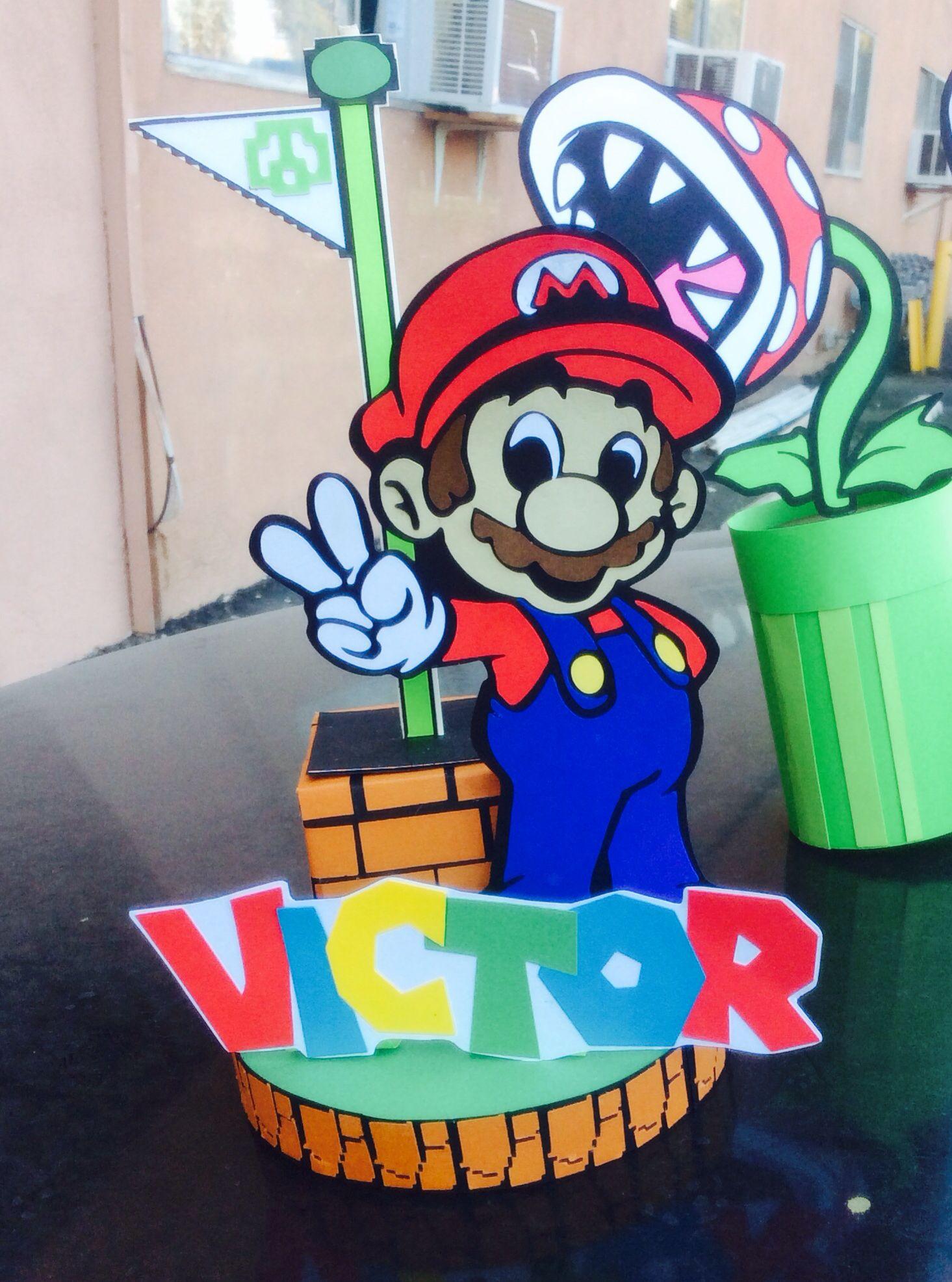 Mario Bros Birthday Centerpiece>Mario Level Complete>DIY>Cricut