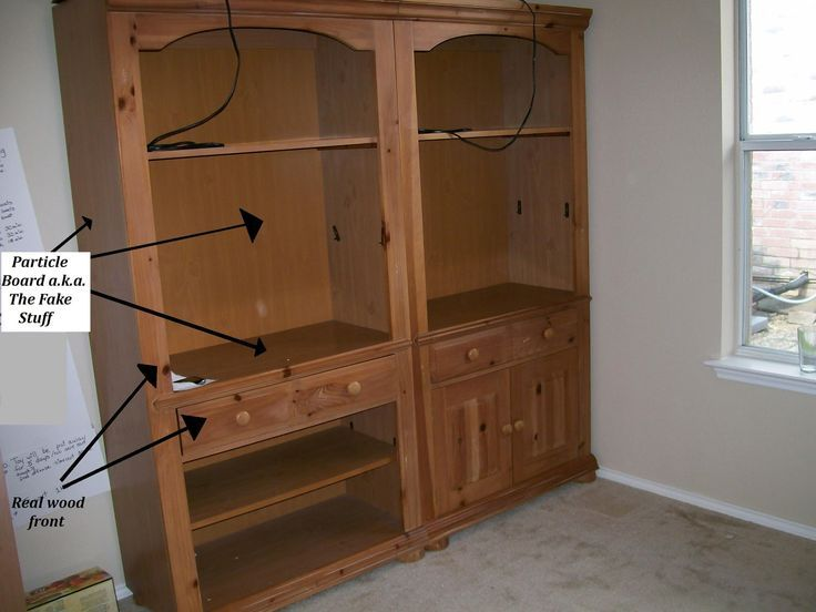 Remember These Sy Broyhill Bookcases I Got On Craigslist For Our Schoolroom Well They Were Hiding A Little Secret While The Fron