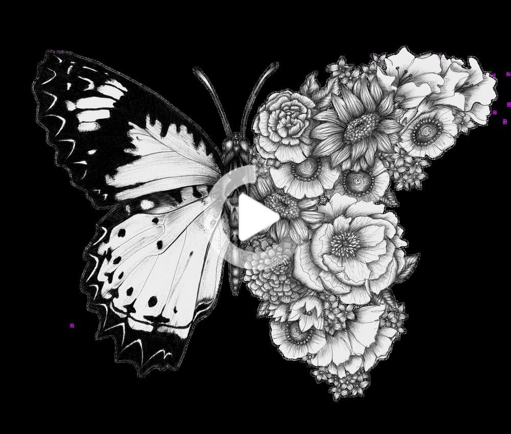 Butterfly In Bloom Hand Bath Towel By Ecmazur Hand Towel In 2020 Mini Art Butterfly Tattoo Butterfly Art