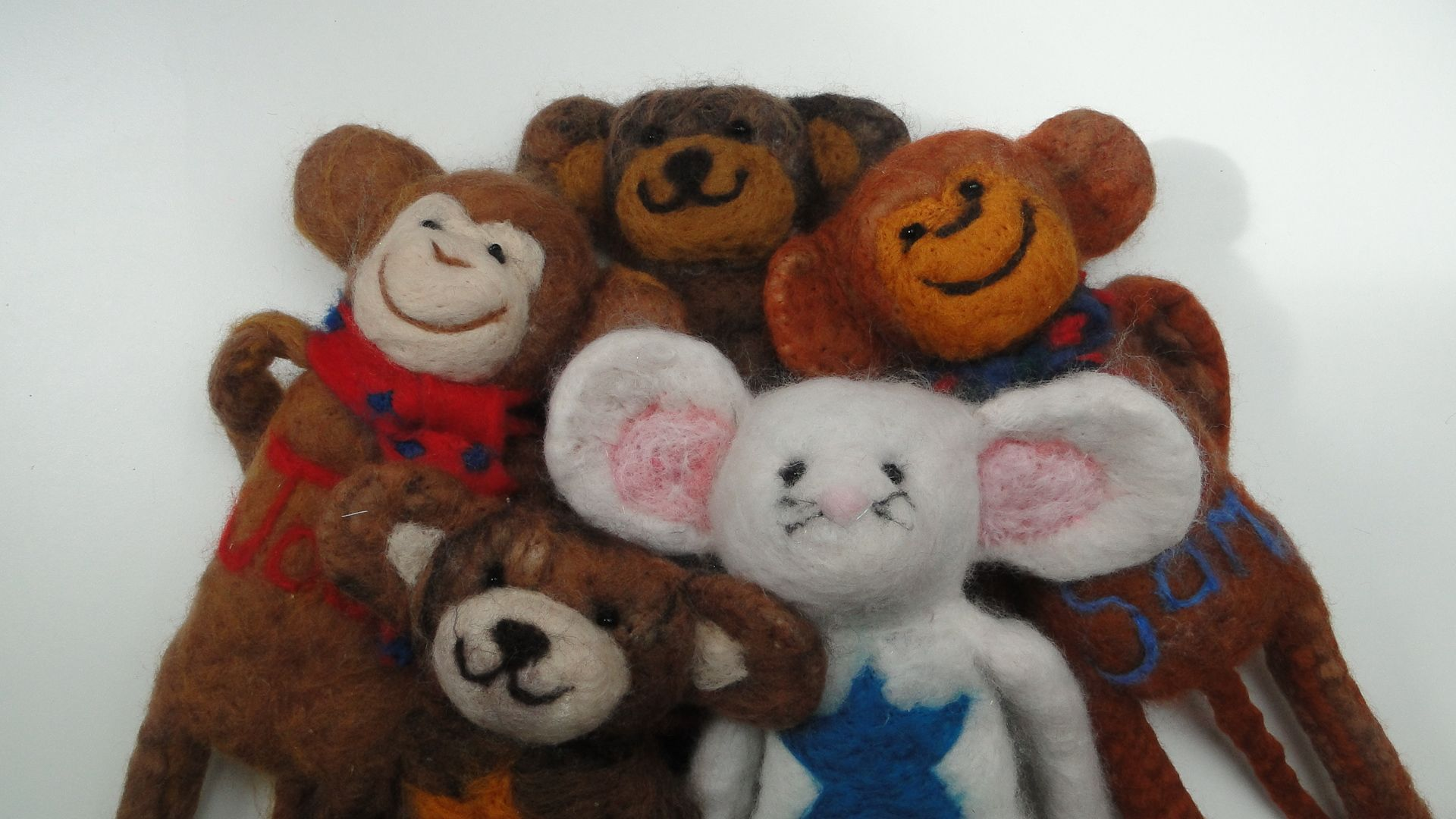 felt friends by red cat handmade