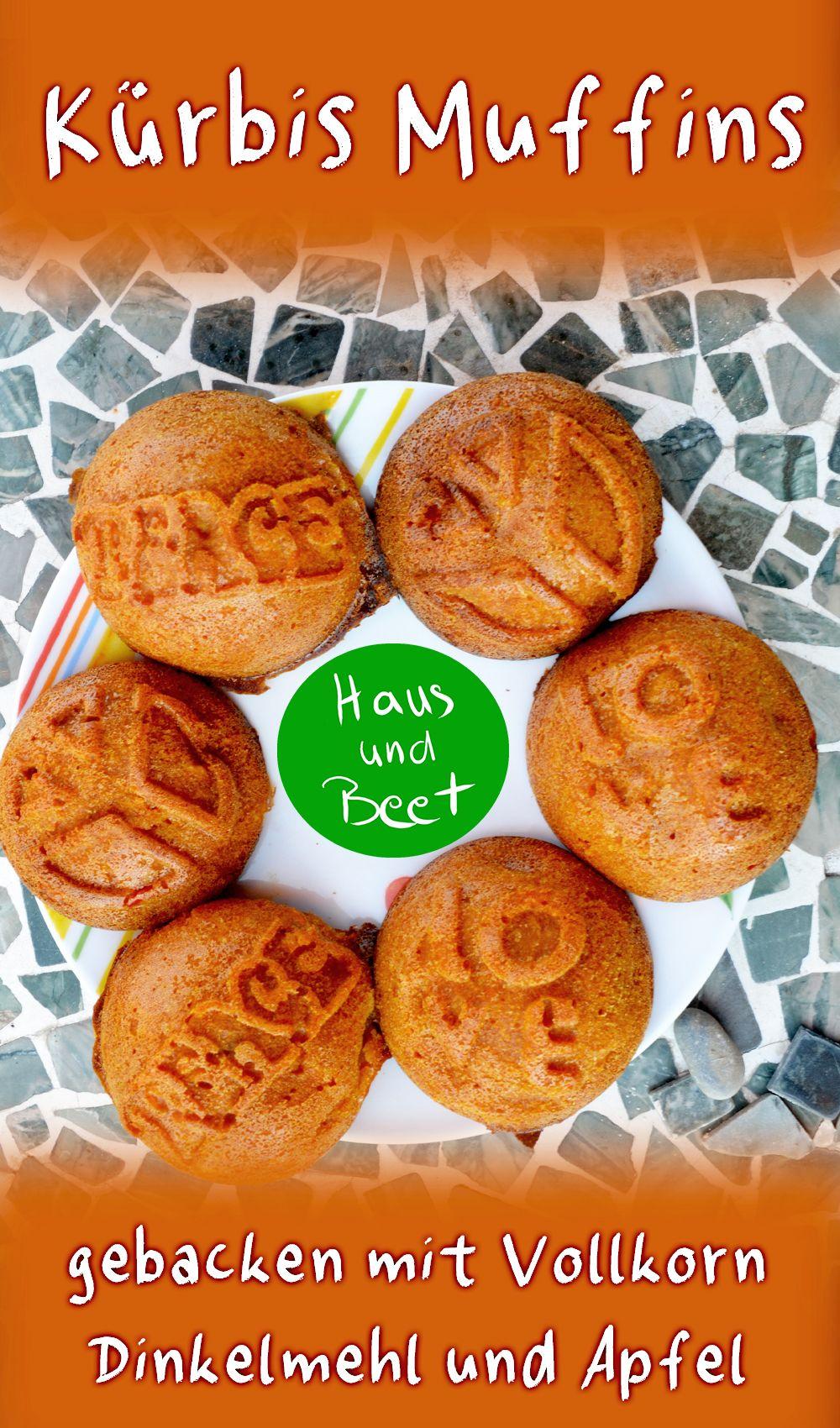 Kürbis Muffins – Süßes gesundes Dessert - Haus und Beet #pumpkinmuffins