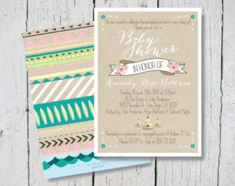 Surf indian baby shower invitations surfer beach ocean nautical surf indian baby shower invitations surfer beach ocean nautical aztec native american bohemian baby girl 5x7 printable filmwisefo