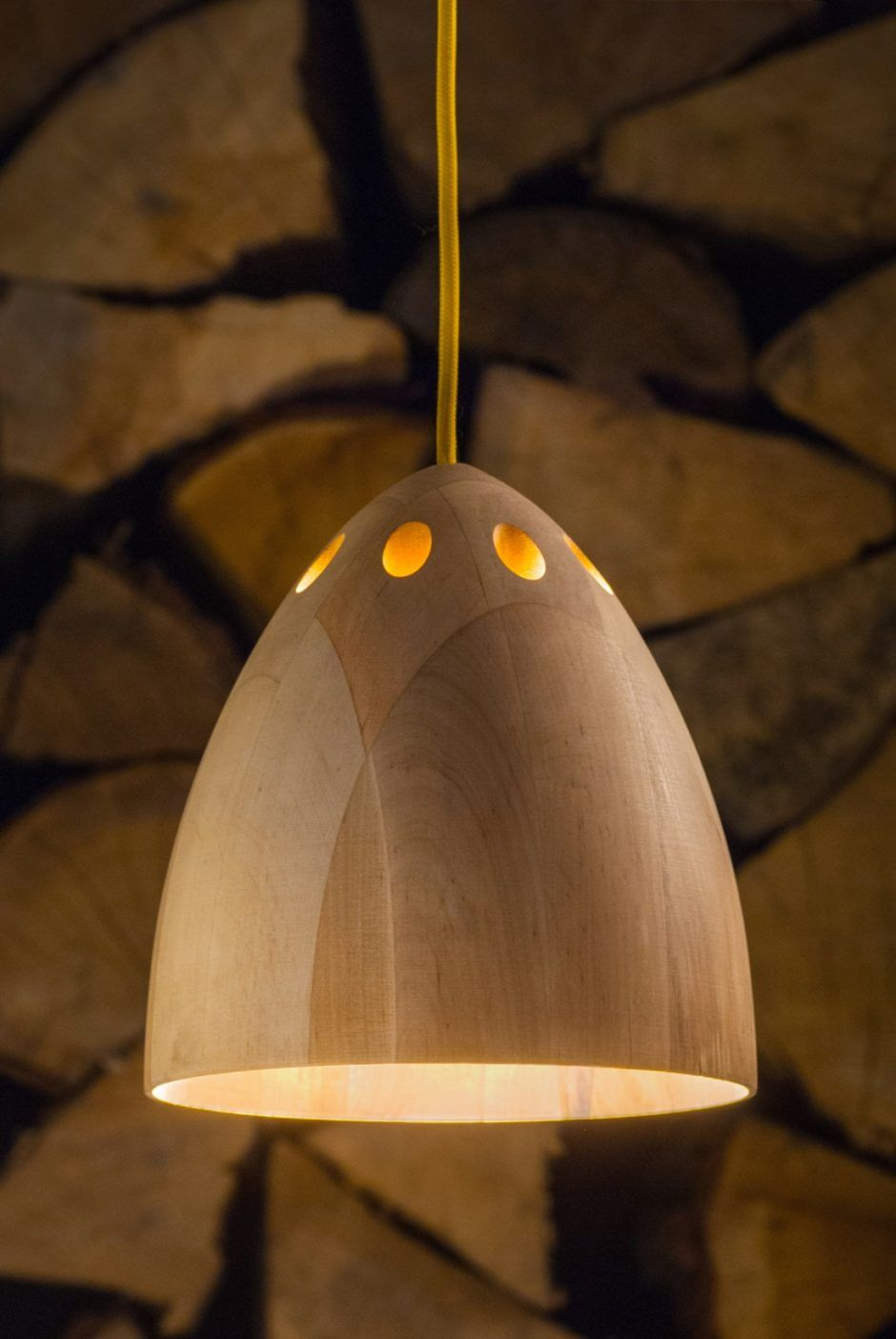 SLIVA wooden pendant lamp by Abadoc Design made in Poland on CROWDYHOUSE #lamp #wood #design