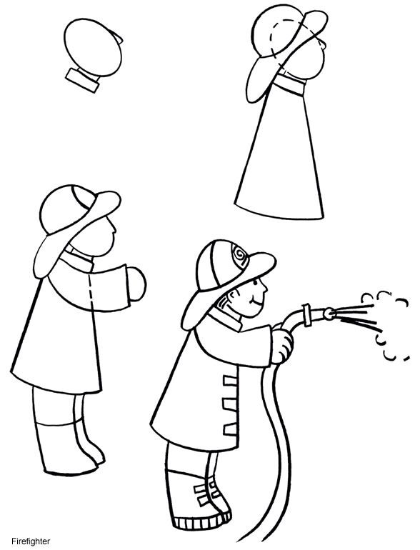 how to draw a fireman drawing lessons for kids in 2018 pinterest