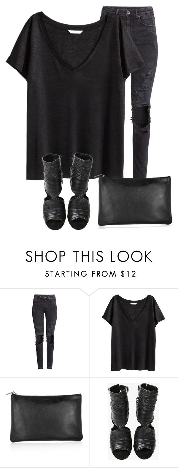 """""""Untitled #247"""" by antonela-475 ❤ liked on Polyvore featuring mode, H&M, Jil Sander et Balmain"""