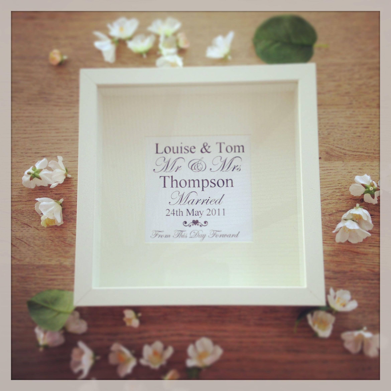 Personalised Wedding Gift - Memory Keepsake   Wedding Gifts ...