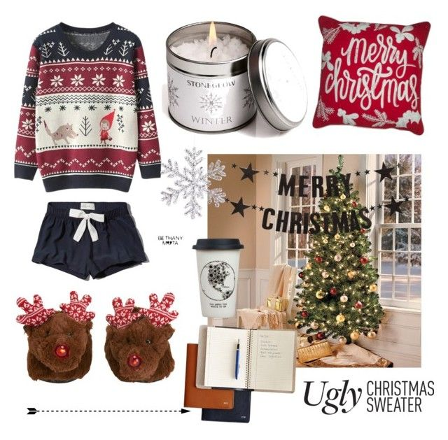 """""""Ugly Christmas sweater"""" by redfriend13 ❤ liked on Polyvore featuring Abercrombie & Fitch, Aéropostale, Bloomingville and Natural Life"""