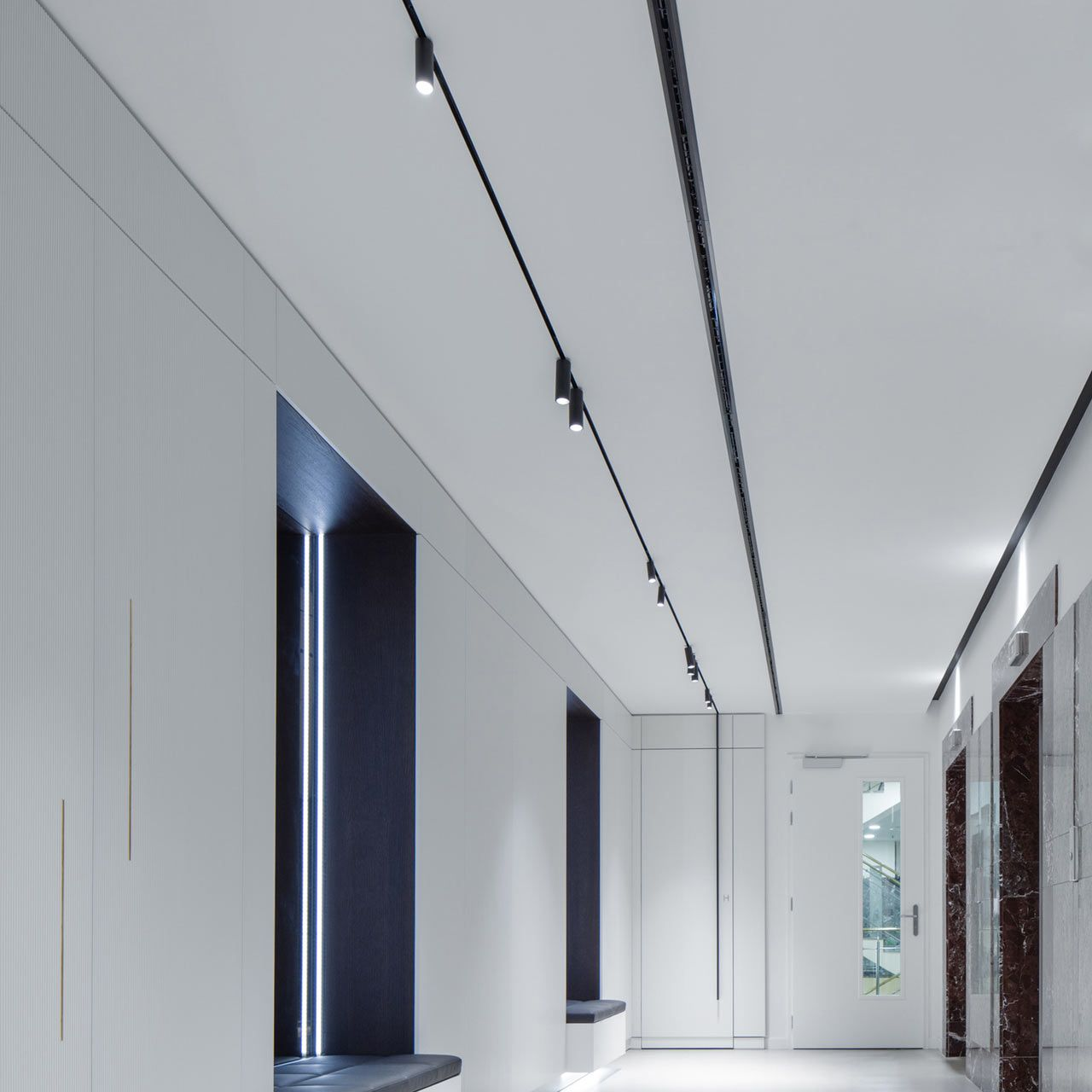 Flos Architectural Redefines Track Lighting Design Milk Black